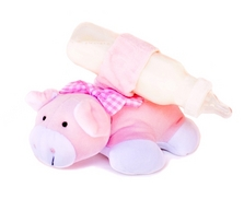 Pinky Pig Bottle Snuggler feeding time helper