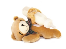 Charming Teddy Bear Bottle Snuggler feeding time helper